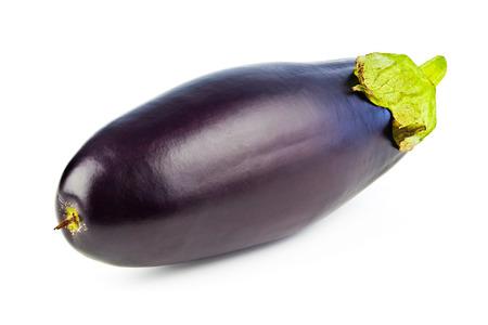 30999842 - one purple eggplant isolated on white background