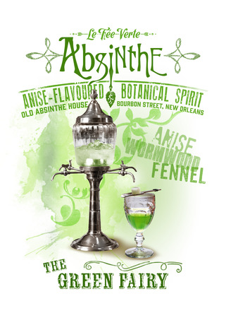 NOLA collection poster of absinthe