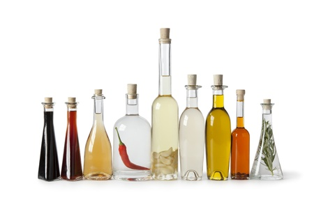 various bottles of oils and vinegars