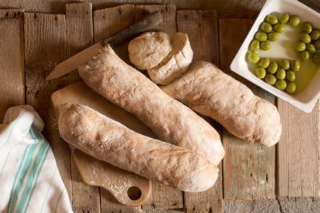 crusty homemade Italian ciabatta bread