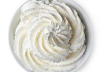 photo of a bowl of whipped cream