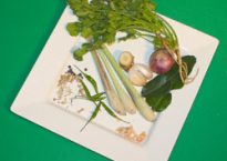 Photo of typical green curry paste ingredients