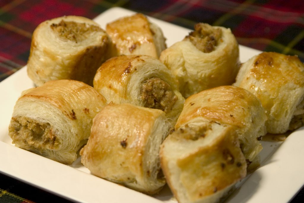 Cocktail sausage rolls for Burns Night